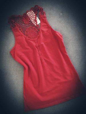 Basic topje rood