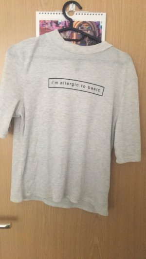 H&M Camisa de cuello de tortuga gris claro