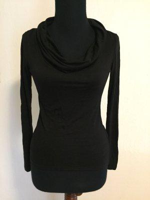 H&M Cowl-Neck Shirt black