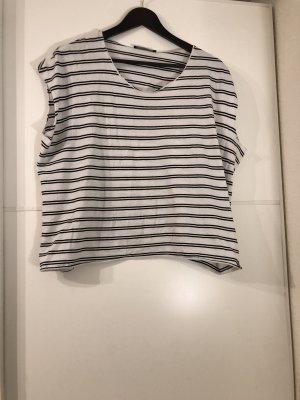 Zara Camiseta negro-blanco