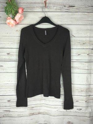 Basic Shirt Braun Madonna Gr. 36 S Langarm
