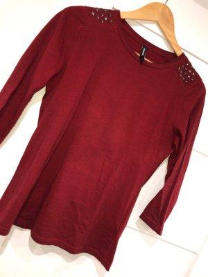 Takko Batik shirt roodbruin