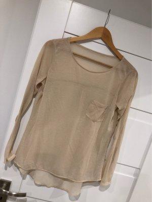 Boothalsshirt room-licht beige