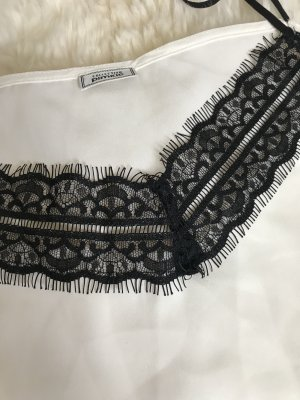 Pimkie Carmen shirt wit-zwart