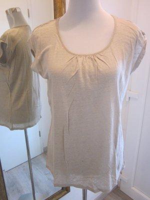 Basic Shirt feinstrick Beige Gr M    Esprit