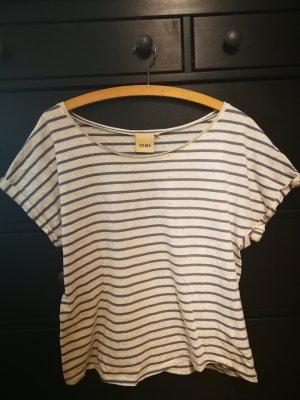 Ichi Camiseta blanco puro-azul acero