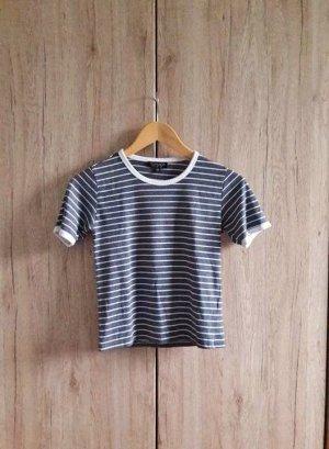 Topshop T-shirt bianco-blu scuro