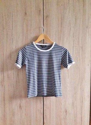 Basic Shirt gestreift blau weiß Gr. 32/XXS