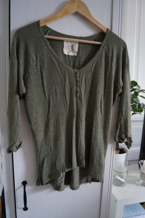 Basic Shirt Gr. 38 Khaki H&M