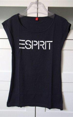 Basic Shirt Gr. XS mit Logoprint angeschnittene kurze Flügelärmel