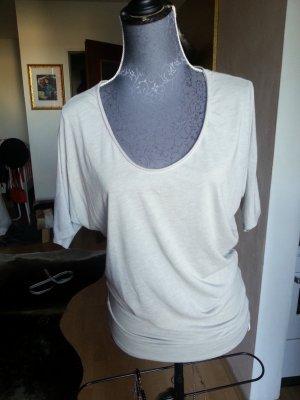 Basic Shirt grau beige Rundhals Ausschnitt Größe XS Neu und ungetragen