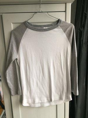 Basic Shirt, graue Ärmel, Gr. M, H&M