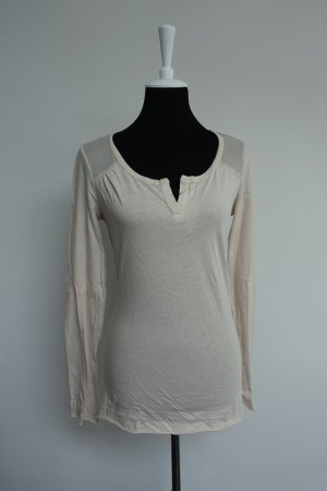 Basic Shirt langarm nude Gr. M velvet