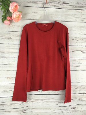 Basic Shirt Langarm Rot Gr M Karminrot Dunkelrot