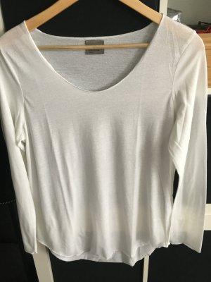 Basic-Shirt langarm wollweiß Gr. L