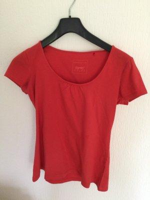 Basic Shirt mit kleiner Raffung