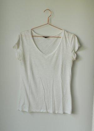 Basic Shirt Tshirt weiß XS Amisu V Ausschnitt