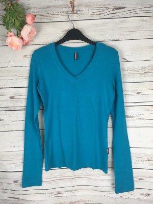 Basic Shirt Türkis Blau Madonna Gr. 36 S Langarm