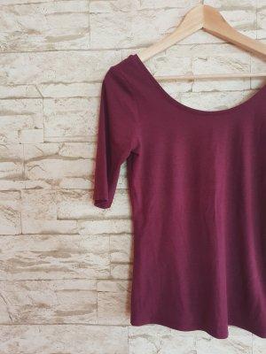 Basic Shirt Weinrot