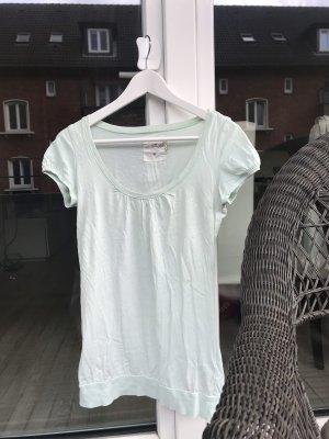 H&M L.O.G.G. Boatneck Shirt pale green-mint
