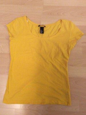 Basic - sonnengelbes T-Shirt von H&M