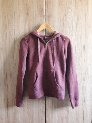 Basic Sweat Jacke Hoodie bordeaux purpur brombeer Gr. XS