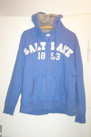 Basic Sweatjacke blau L