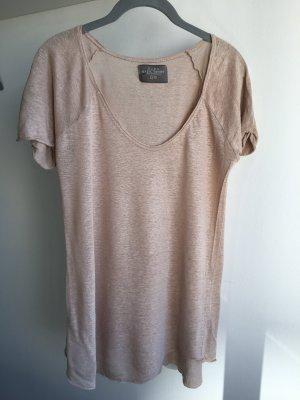 Zara Camiseta beige claro