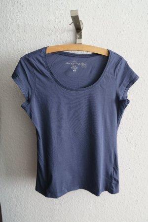 Basic T-shirt H&M blau Größe XS/S