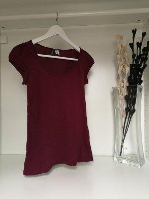 Basic- T-Shirt in bordeaux