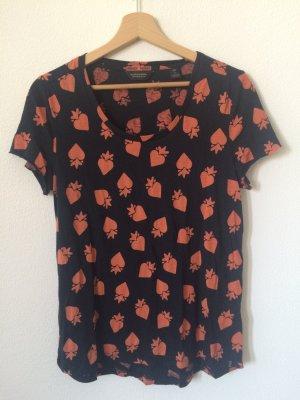 Basic T-Shirt mit Aufdruck