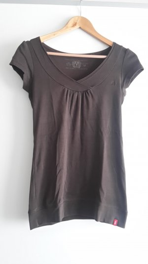 Basic T-Shirt von EDC by Esprit in braun