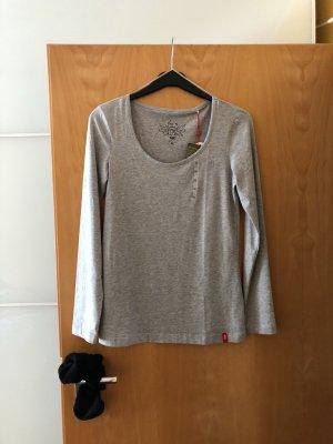 Edc Esprit Camisa larga gris claro Algodón