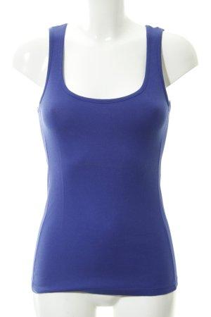 Basic Top blau Casual-Look