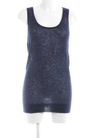 Basic topje donkerblauw