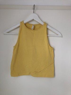 Basic Top gelb kurz