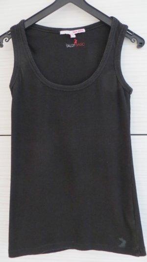 Basic Top, schwarz, Größe S / 36