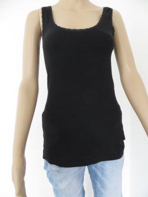 Basic-Top, schwarz, Größe S/M, H&M