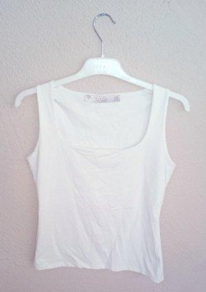 Zara Top blanc cassé