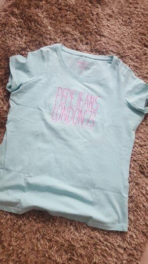 Basic Tshirt in hellblau/pink von Pepe Jeans