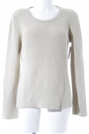 Basically You Knitted Sweater cream loosely knitted pattern casual look