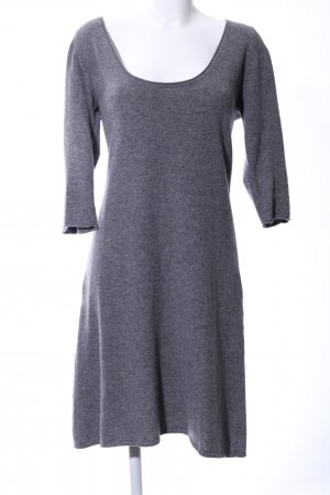 Basically You Woolen Dress light grey flecked business style
