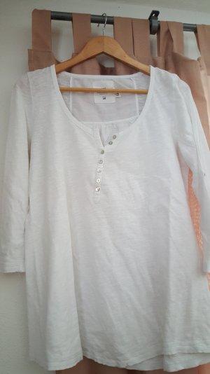 Basicshirt 3/4 arm in weiß