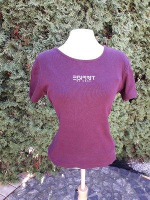Basicshirt in Beerenfarbe von Esprit de Corps Gr. M