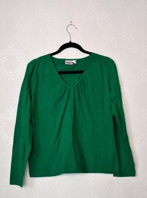 Basicshirt / Langarm / Smaragdgrün