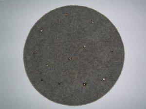 H&M Beret grey-light grey wool
