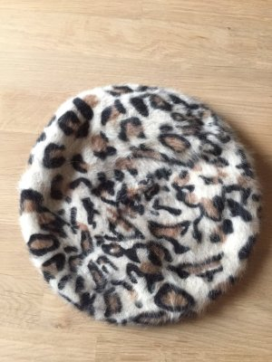 Baskenmütze Beret H&M Leo Animal-Print