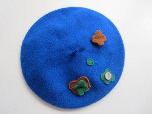 Seeberger Béret bleu laine vierge