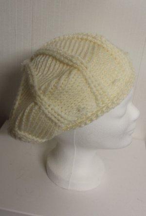 Baskenmütze Mütze cremeweiß