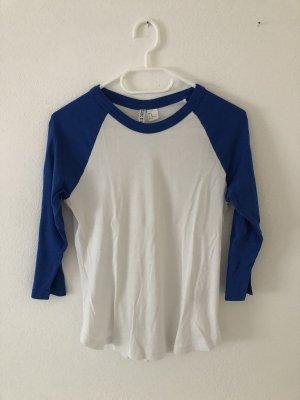 H&M Jersey de manga corta blanco-azul